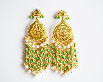 Earrings with Tikka Set