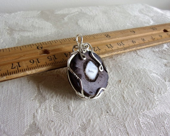 Silver and Moonstone Pendant
