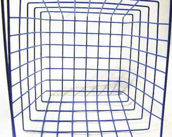 Blue Metal Basket