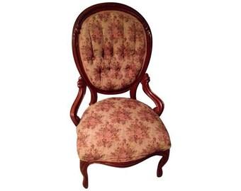 SALE Antique Victorian Parlor Accent Chair In EXCELLENT Condition