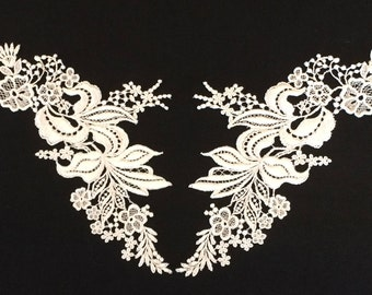Venice Lily Lace Bodice Applique-Set-Off White-42