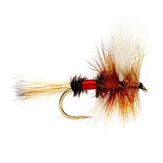Royal Wulff Hair Wing Dry Fly - Hook Size 12 - Hand-Tied Fly Fishing Trout Flies