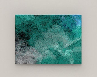 Wall Art Canvas, Teal Blue Grey wall Decor, Canvas Print