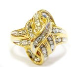 10K Gold & Diamond Knot R...