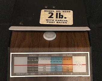 Vintage Office Postal Scale 2lbs Vintage Desk Item Vintage Office Item