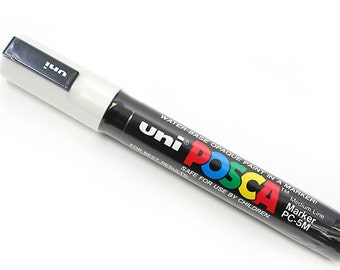 Uni Posca PC-5M Paint Marker - Medium Point - White