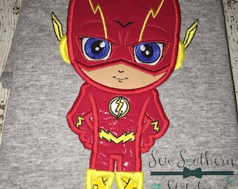 The Fast Red Guy Applique Design ~ Comic Book Hero ~ Instant Download