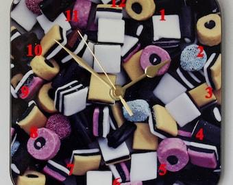Liquorice Allsorts - Square Wall Clock