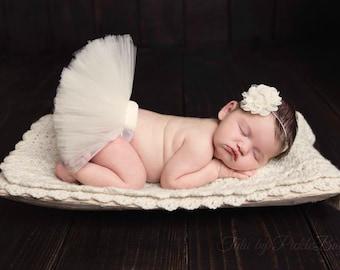 Baby Tutu, Newborn Girl Coming Home Outfit, Baby Girl Coming Home Outfit, Newborn Photo Prop, Tulle Skirt, Baby Shower Gift, Tutu Dress SEWN