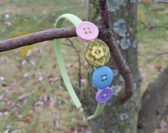 Pastel Rainbow Headband, Rainbow Headband, Flower Headband, Easter Headband, Spring Headband, Headbands, Headbands for Girls, Gifts under 10