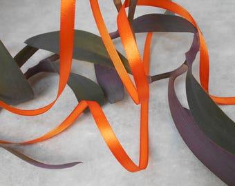 Orange-6mm - 22 meters roll satin ribbon