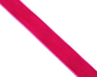 20 mm X 1 Bull FUCHSIA velvet Ribbon meter