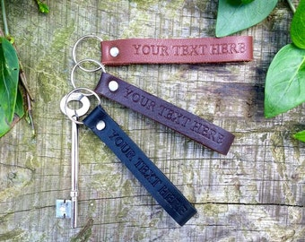 Personalised keychain leather Couple keychain Custom keychain College student gift Key ring Monogrammed Key chain Key fob Housewarming gift