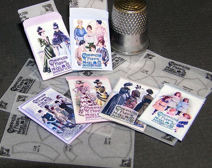 Pattern, Paperminis, Bastelkit of paper in miniature for the doll's room, the doll house, Dollhouse Miniatures # 40055
