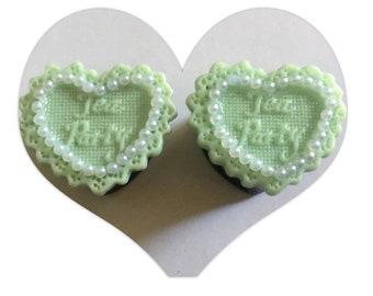 Minty sweetheart plugs