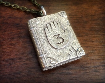Gravity Falls Journal 03 Stainless Steel 3D Printed Pendant