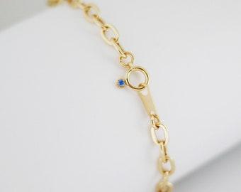 Quality Japan Solid 18K Yellow Gold Bracelet,18cm/7inch,AU750,Thick Flat Oval Link Charm Bracelet Bangle,Lightweight Luxury Custom Jewelry