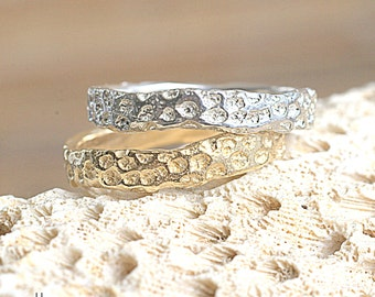 14k Gold Coral Band | 14k Yellow Gold, 14k Rose Gold or 14k White Gold | Nature Inspired Ring