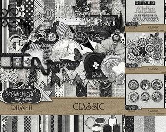 On Sale 50% Off Classic Collection Digital Scrapbook Kit - Digital Scrapbooking