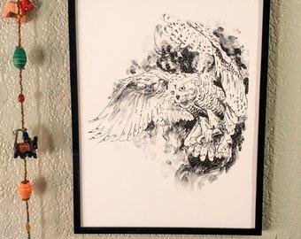 Hedwig, Barn Owl, Print