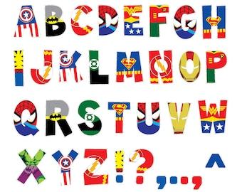 Superhero Alphabet PRINTABLE Letters