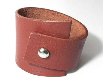 Tan Leather Bracelet Leather Cuff Women Cuff Leather Bangle
