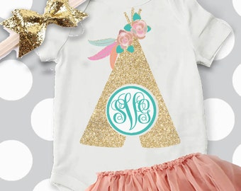 teepee monogram svg, feather Monogram svg , cutting files, arrow SVG DXF, Eps, png,  Cameo, Tribal svg, aztec svg, baby girl svg