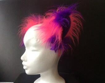 """5"""" Purple Frenzy kitten play ears"""