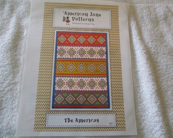 "The Americas Paper Quilt pattern by American Jane Patterns for a 61"" x 87"" quilt"