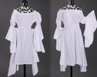White Cotton Chemise or Dress Renaissance Gown SCA LARP