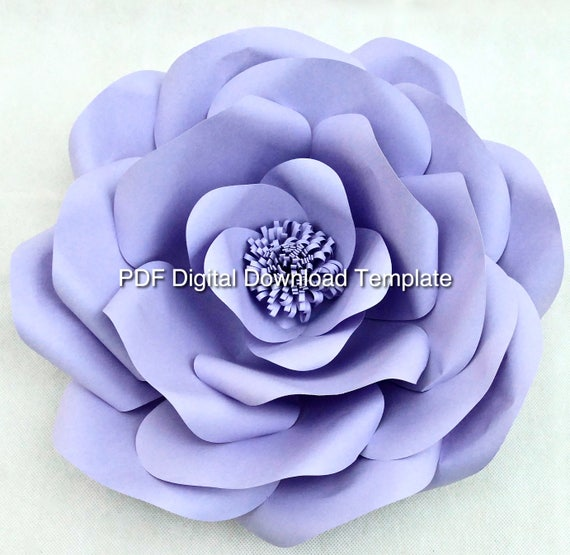 Giant Wild Rose Paper Flower PDF Template and Tutorial (Digital File Only and Link to Tutorial)