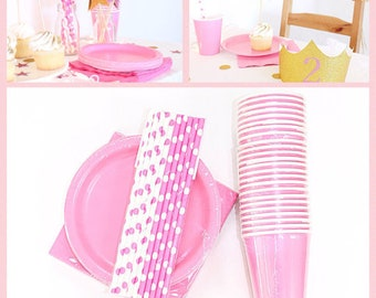 Pink Cake Plates   Princess Party Supplies   Baby Shower Party Supplies  sc 1 st  Etsy & Pink cake plate   Etsy