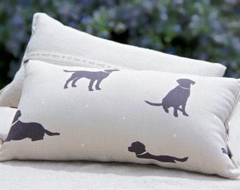 Lavender Cuddle Cushion - Black Labrador