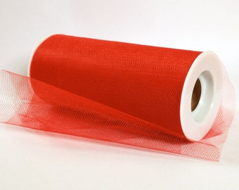 """Red Tulle Roll 6""""x25 Yards - Red Tulle Spool-Tulle Fabric-Tutu Tulle- Red Wedding Tulle"""