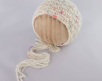 Cypress Bonnet, newborn photography prop, knit bonnet prop Newborn Photography Prop, Photo Prop, Knit Bonnet