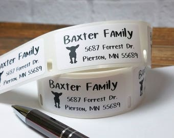 """1"""" x 2"""" Return Address Labels, Bill Pay Stickers, Chihuahua Stickers, Roll Labels,  Personalized Labels, Custom Stickers, Packaging Labels"""