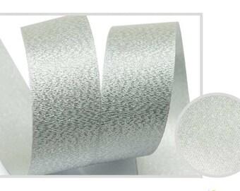 5Yards  Metallic Sparkle Silver Satin Ribbon - 15mm(5/8'') , and 25mm(1'') - Glitter Ribbon