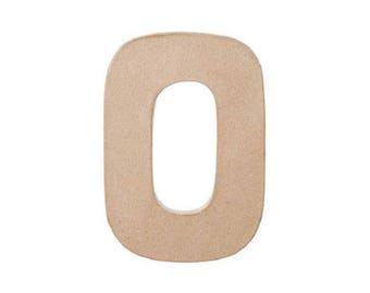 8 INCH Paper Mache Letter O - Cardboard Letters - Craft Supplies