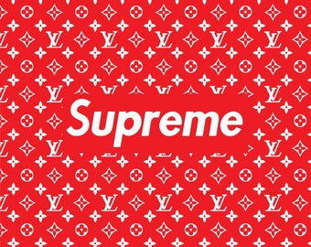 SUPREME Poster A4 Small Print stylish and trendy collab with Louis V Rare