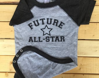 Future All-Star, Bodysuit, Baby Snapsuit, Baby boy Clothes, Baby Clothes, Newborn Baby Clothes, Baby, Cute Baby One-piece, All-Star Baby