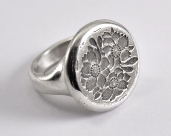 Cherry Bloom Ring -silver
