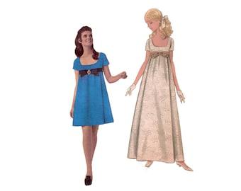 60s uncut Empire Waist Dress pattern Babydoll Dress pattern Maxidress pattern Minidress pattern vintage 36-27-38 Butterick 4924