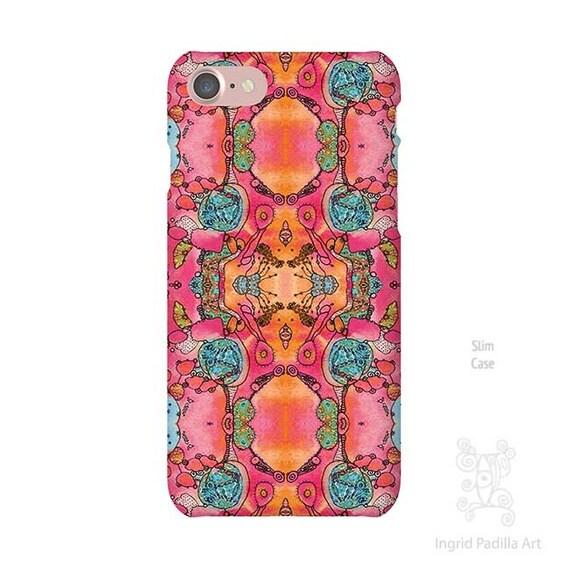 Pink iPhone case, iPhone 7 case, iphone 7 plus case, iPhone 6s Case, iphone 8 case, iPhone 5S case, iPhone 8 Plus case, Galaxy S7 Case, boho