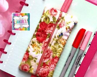 Rose Garden Pen holder zipper band