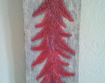 27 1/2 Inch Barn Wood Wall Decor Chili Ristra South Western Ranch Farmhouse Art