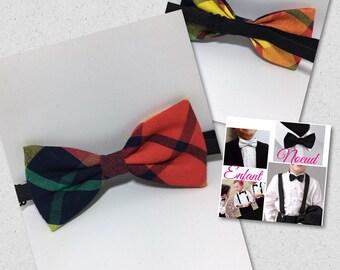 Bow tie dark red madras