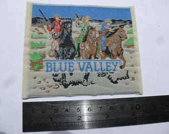 patch applique patch western Blue valley horsemen cowboy Wild West 991 customisation couture vintage paste