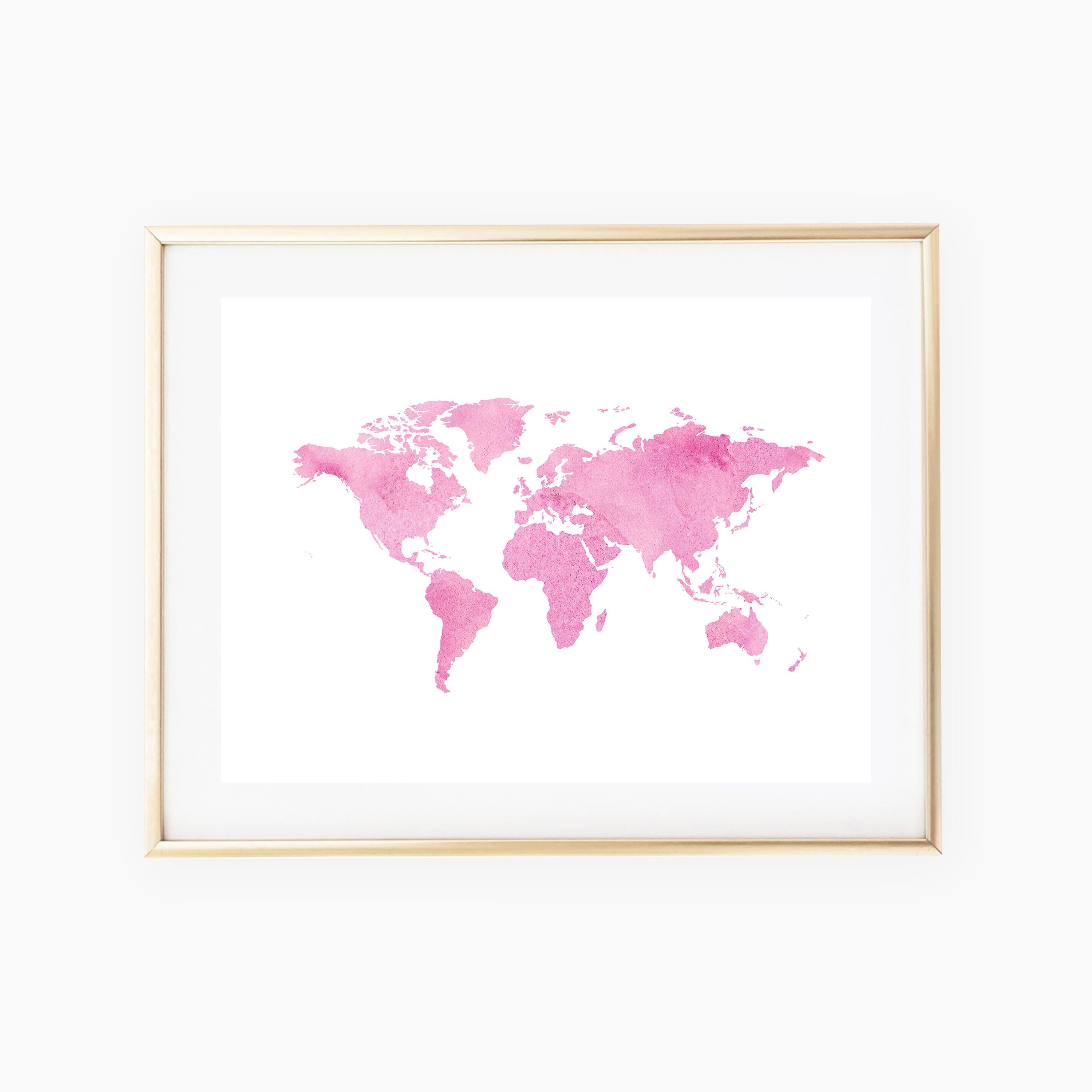 World map wall art travel print world map printable world zoom sciox Gallery