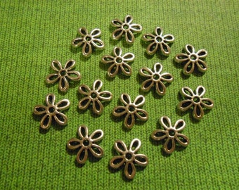 20 Flower Bead Caps Silver Bead Caps Floral Bead Caps 11mm Bead Caps Daisy Bead Caps Spacer Flower Spacers Beading Supplies Jewelry Supplies