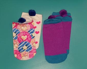 Pompom Socks sz 8-13, Kids about age 3-6, Ankle Sock